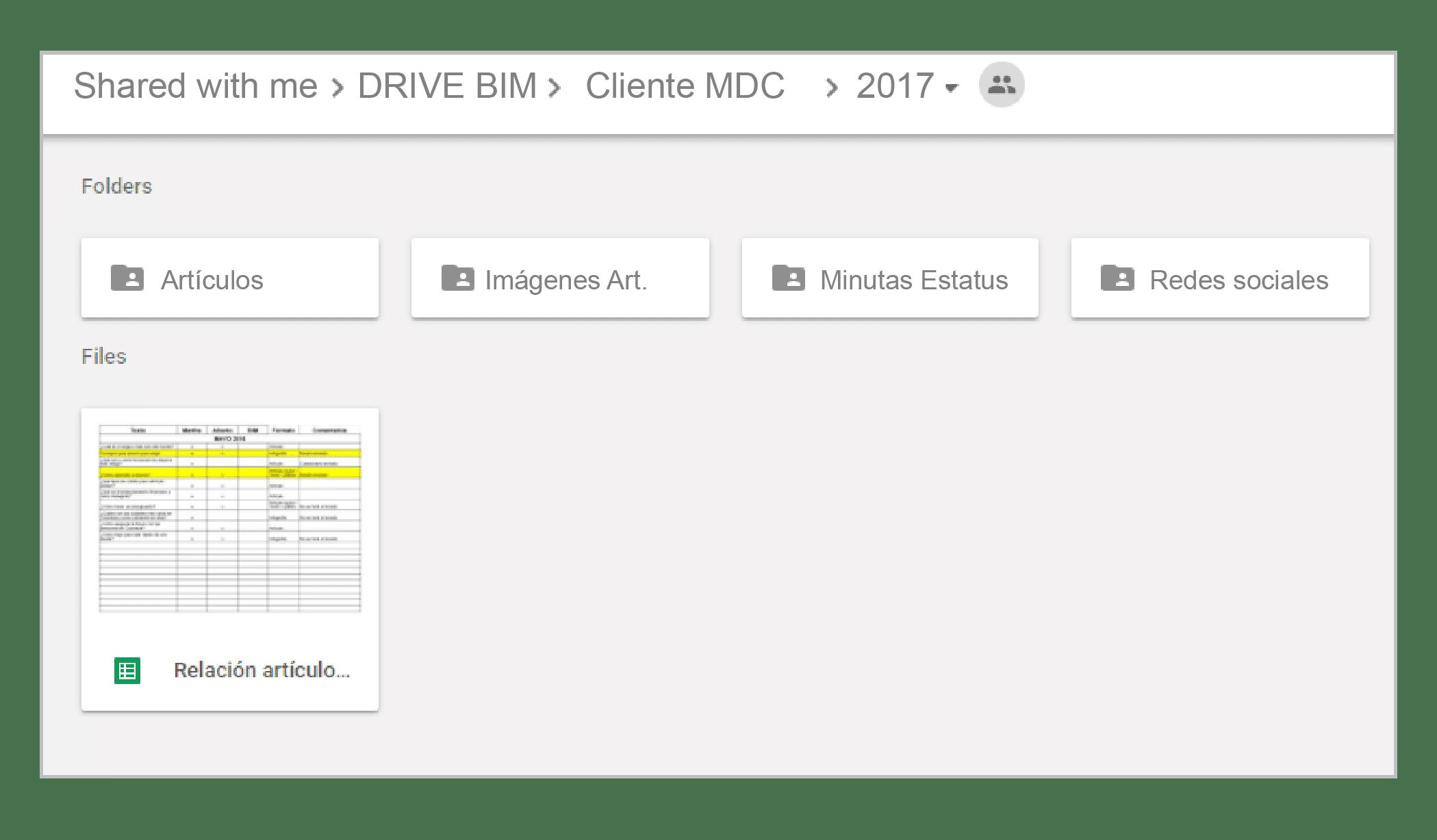 Google Drive para compartir archivos con clientes distancia