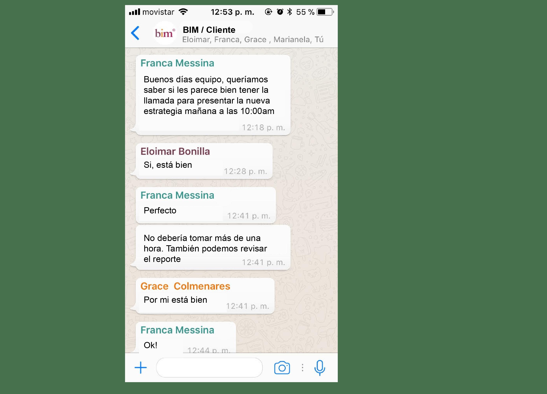 WhatsApp con clientes a distancia