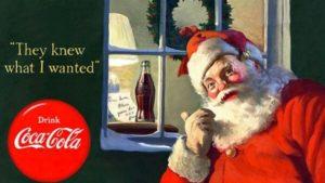 Anuncio de coca-cola con Santa